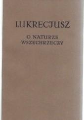 Okładka książki O naturze wszechrzeczy Titus Lucretius Carus