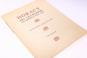 Do Leukonoe Dwadzieścia Dwie Ody Horacy 110688