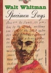 Okładka książki Specimen Days Walt Whitman