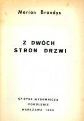 Okładka książki Z dwóch stron drzwi Marian Brandys