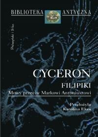 Okładka książki Filipiki. Mowy przeciw Markowi Antoniuszowi. Marek Tulliusz Cyceron