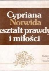 Okładka książki Cypriana Norwida kształt prawdy i miłości Stanisław Makowski