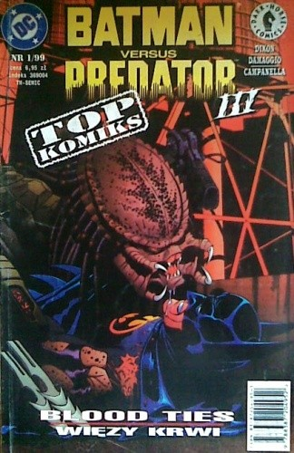 Okładka książki Batman versus Predator III: Więzy Krwi Adolfo Damaggio,Chuck Dixon