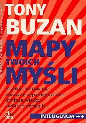 Okładka książki Mapy twoich myśli Tony Buzan