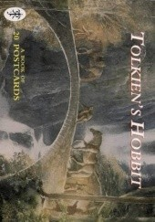 Okładka książki Tolkiens Hobbit: A Book of 20 Postcards John Howe,Alan Lee,Ted Nasmith,Roger Garland,Cor Blok,Pauline Baynes,David Wenzel,Gerd Renshof,Ron Ploeg,Capucine Mazille