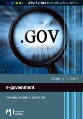 Okładka książki e-government. Systemy informacji publicznej Mariusz Luterek