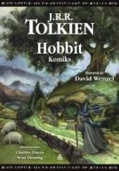 Okładka książki Hobbit. Komiks J.R.R. Tolkien