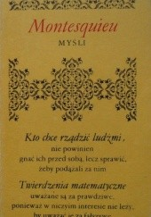 Okładka książki Myśli Karol Ludwik Monteskiusz