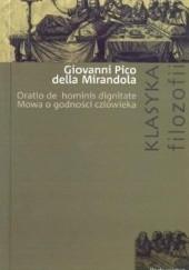 Okładka książki Mowa o godności człowieka Giovanni Pico della Mirandola