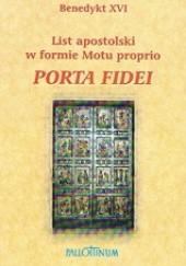 Okładka książki Porta fidei. List apostolski Benedykt XVI