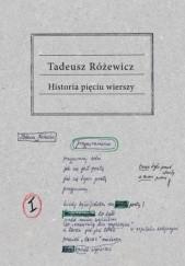 Okładka książki Historia pięciu wierszy Tadeusz Różewicz