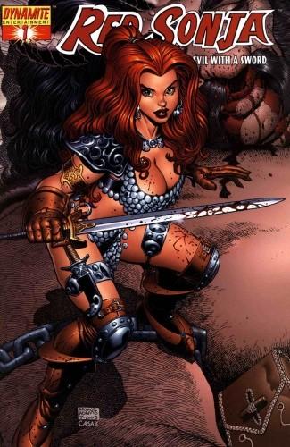 Okładka książki Red Sonja - She Devil With A Sword 01 Michael Avon Oeming,Mike Carey,Richard Isanove,Mel Rubi
