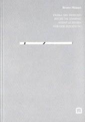 Okładka książki Before the Drawing Bruno Munari