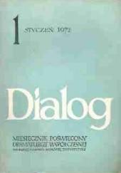 Okładka książki Dialog, nr 1 / styczeń 1972 Bertolt Brecht,Kōbō Abe,Stefan Otwinowski,Redakcja miesięcznika Dialog
