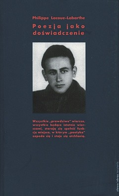 Okładka książki Poezja jako doświadczenie Philippe Lacoue-Labarthe