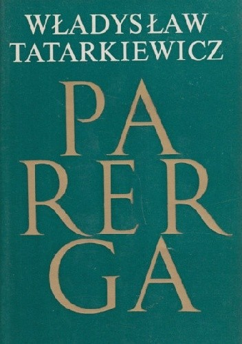 Okładka książki Parerga