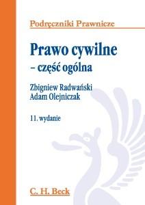 Okładka książki Prawo cywilne : część ogólna Adam Olejniczak,Zbigniew Radwański