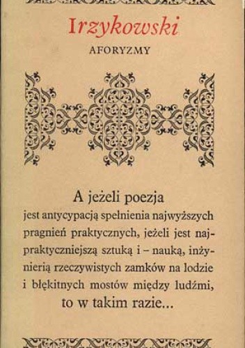 Aforyzmy Karol Irzykowski 144460 Lubimyczytaćpl