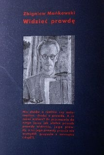 Okładka książki Widzieć prawdę Zbigniew Mańkowski