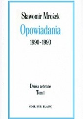 Okładka książki Opowiadania 1990-1993 Sławomir Mrożek