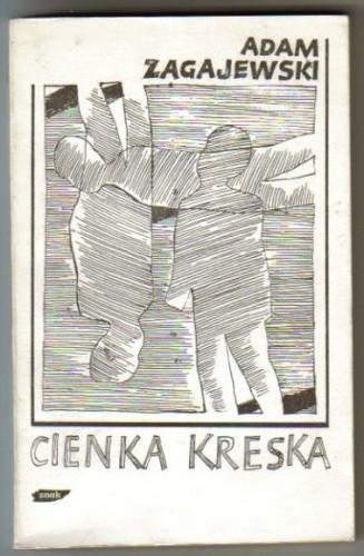 Okładka książki Cienka kreska Adam Zagajewski