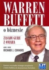 Okładka książki Warren Buffett o biznesie Richard J. Connors