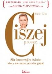 Okładka książki Ciszej proszę... Susan Cain