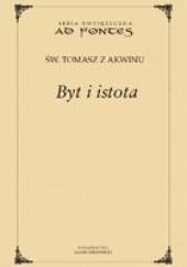 Okładka książki Byt i istota