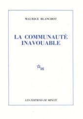Okładka książki La communauté inavouable Maurice Blanchot