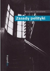 Okładka książki Zasady polityki Benjamin Constant