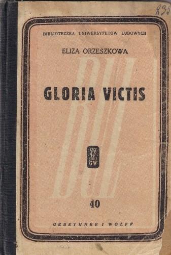 Okładka książki Gloria victis Eliza Orzeszkowa