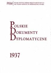 Okładka książki Polskie Dokumenty Dyplomatyczne 1937 Jan Stanisław Ciechanowski