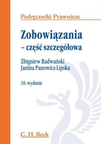 Okładka książki Zobowiązania - część szczegółowa Zbigniew Radwański