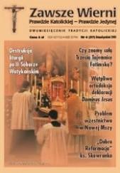 Okładka książki Zawsze wierni, listopad-grudzień 2000 Redakcja pisma Zawsze wierni
