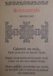 Okładka książki Aforyzmy Stanisław Brzozowski