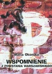 Okładka książki Wspomnienie z Powstania Warszawskiego Maria Okońska