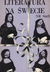 Okładka książki Literatura na świecie nr 9/1976 (65)