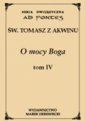 Okładka książki O mocy Boga t. IV