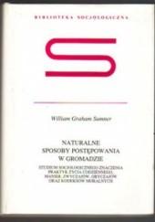 Okładka książki Naturalne sposoby postępowania w gromadzie