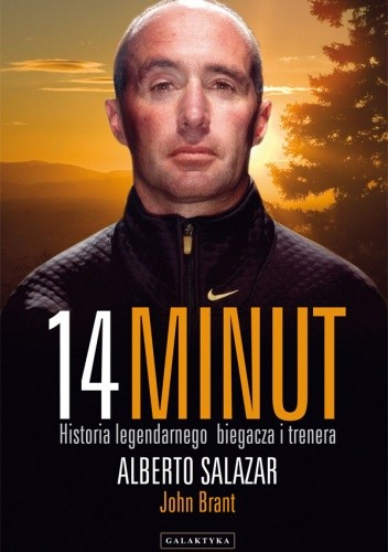 Okładka książki 14 minut. Historia legendarnego biegacza i trenera