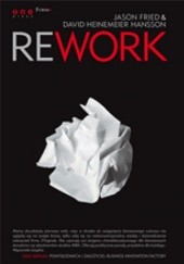 Okładka książki Rework Jason Fried, David Heinemeier Hansson