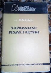 Okładka książki Zapomniane pisma i języki Johannes Friedrich