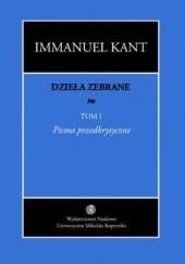 Okładka książki Pisma przedkrytyczne Immanuel Kant