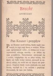 Okładka książki Aforyzmy Bertolt Brecht