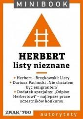 Okładka książki Herbert. Listy nieznane Zbigniew Herbert,Jan Brzękowski,Dariusz Pachocki