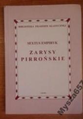 Okładka książki Zarysy Pirrońskie Sekstus Empiryk
