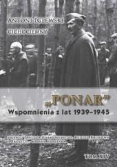 Okładka książki PONAR Wspomnienia z lat 1939-1945 Janusz Borkowski