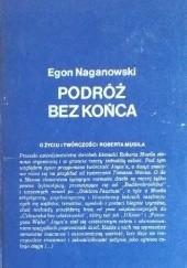 Okładka książki Podróż bez końca. O życiu i twórczości Roberta Musila Egon Naganowski