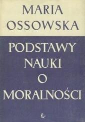 Okładka książki Podstawy nauki o moralności Maria Ossowska