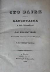 Okładka książki Sto bajek podług Lafontaina z 100 obrazkami przez J.J.Grandville Jean de La Fontaine